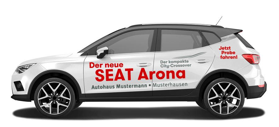 seat arona variante a marketline werbe und service gmbh. Black Bedroom Furniture Sets. Home Design Ideas